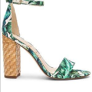 Sam Edelman Yaro Sandal in Jade Multi Palm Size 11